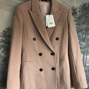 Theory Camogie Double-Breasted Power Jacket Wool